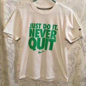 Nike  Regular Fit White Tee Shirt